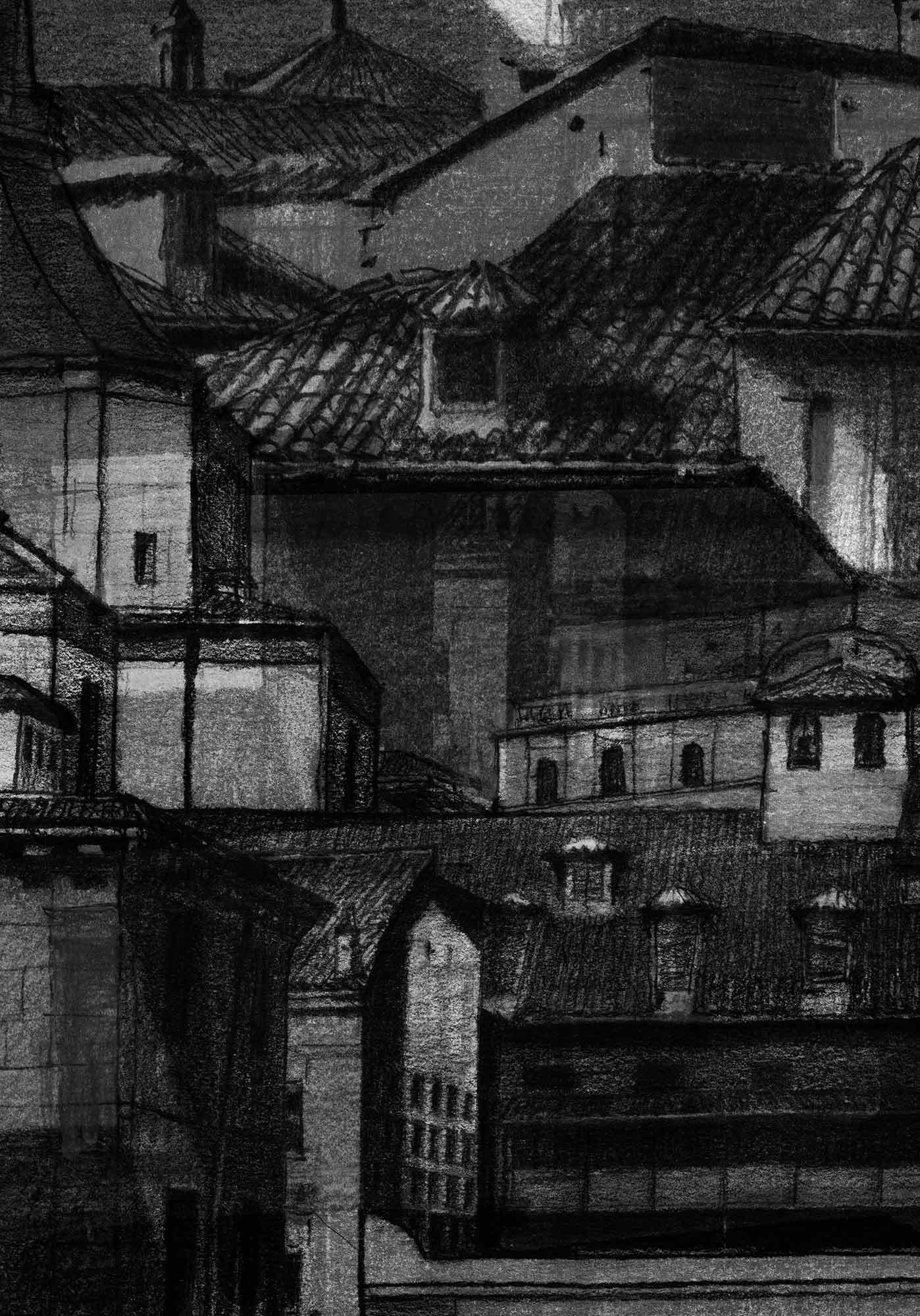 "Artist book: ""Augusta Plaza de Paja"" drawing. Mario Jodra"