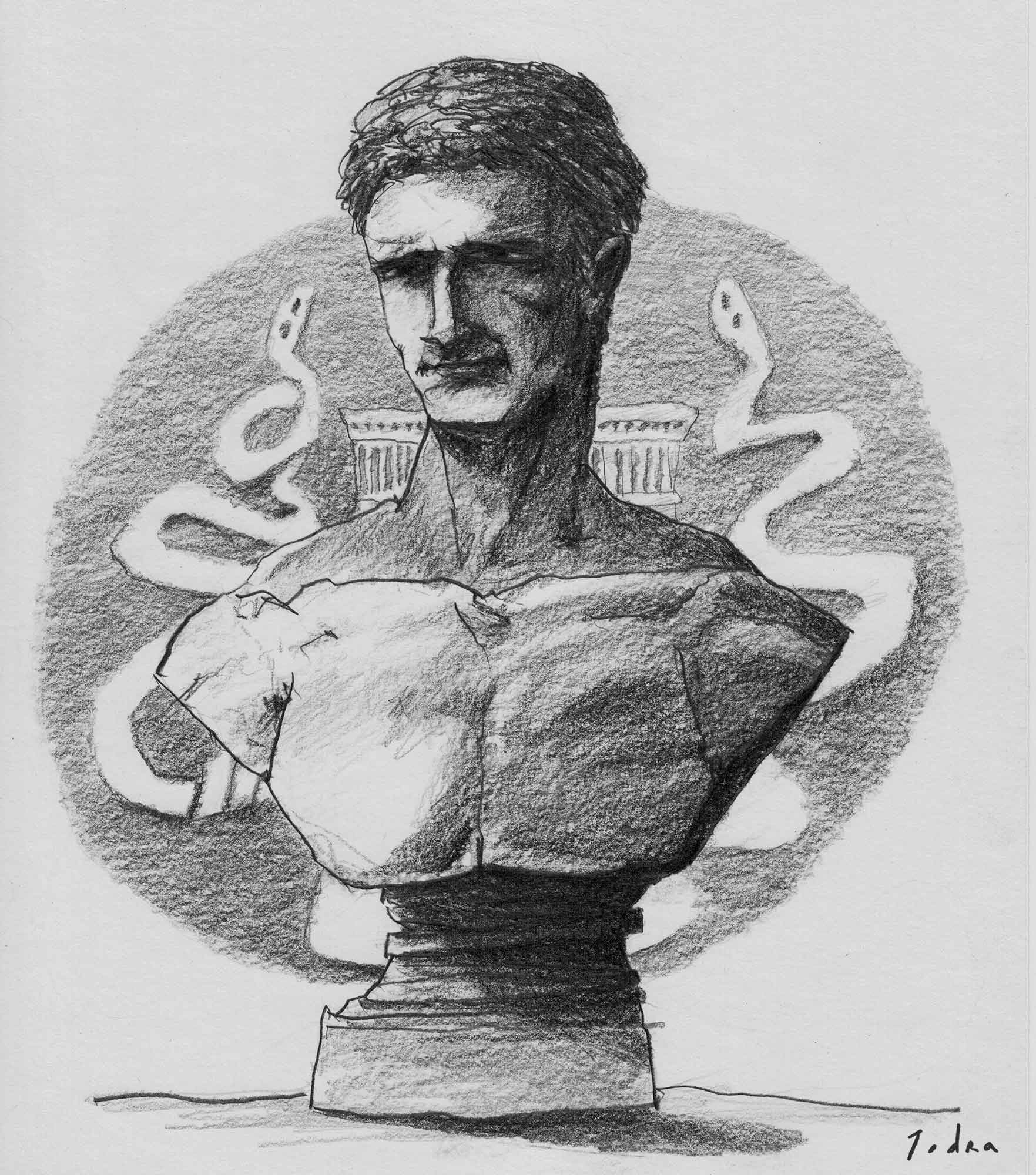 Mark Antony portrait. Drawing. Mario Jodra 2020