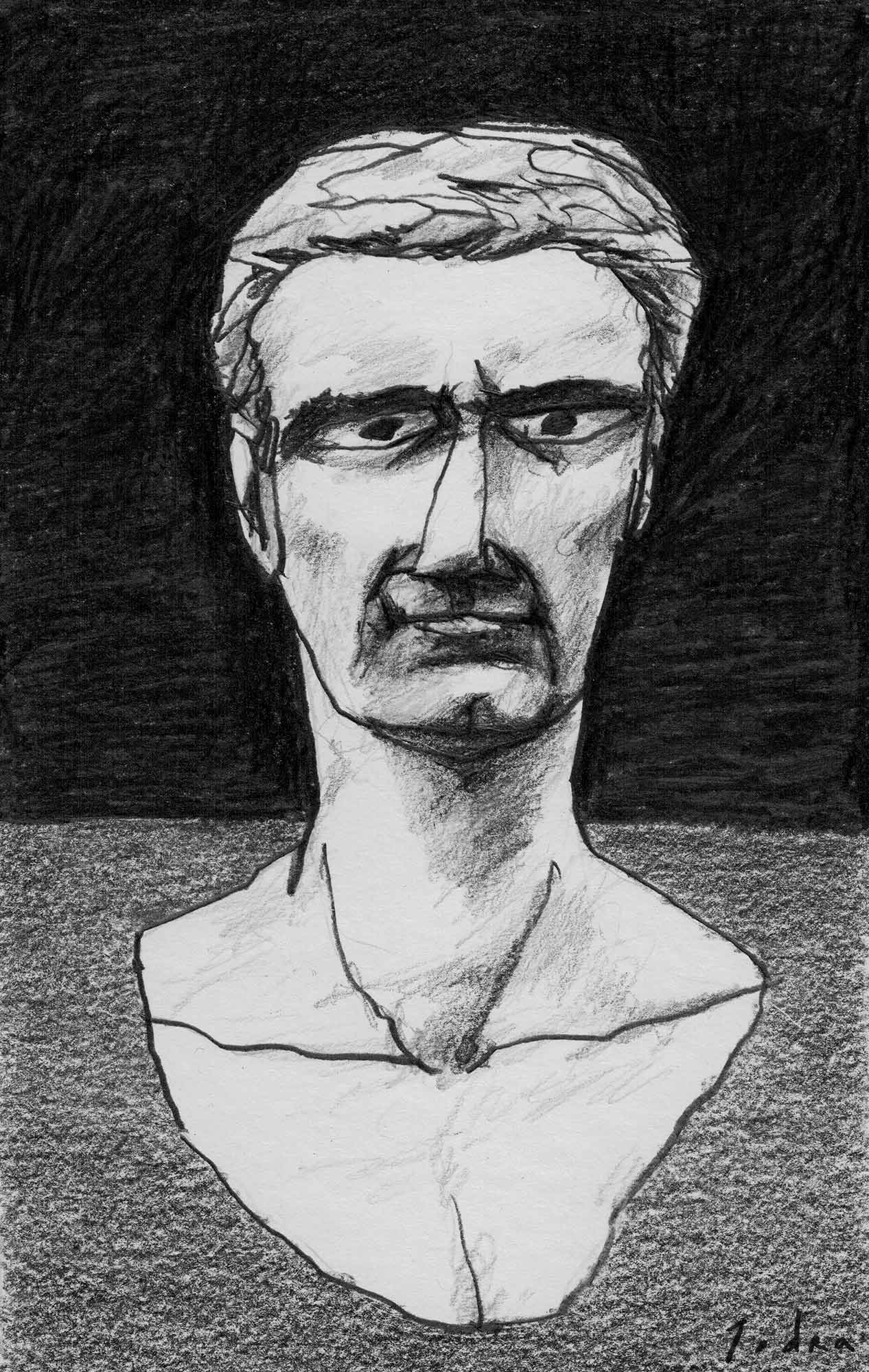 Tiberius portrait. Drawing. Mario Jodra 2020