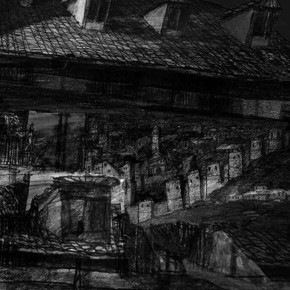 "Artist book: ""Augusta Plaza de Paja"" drawing. Mario Jodra 2020"