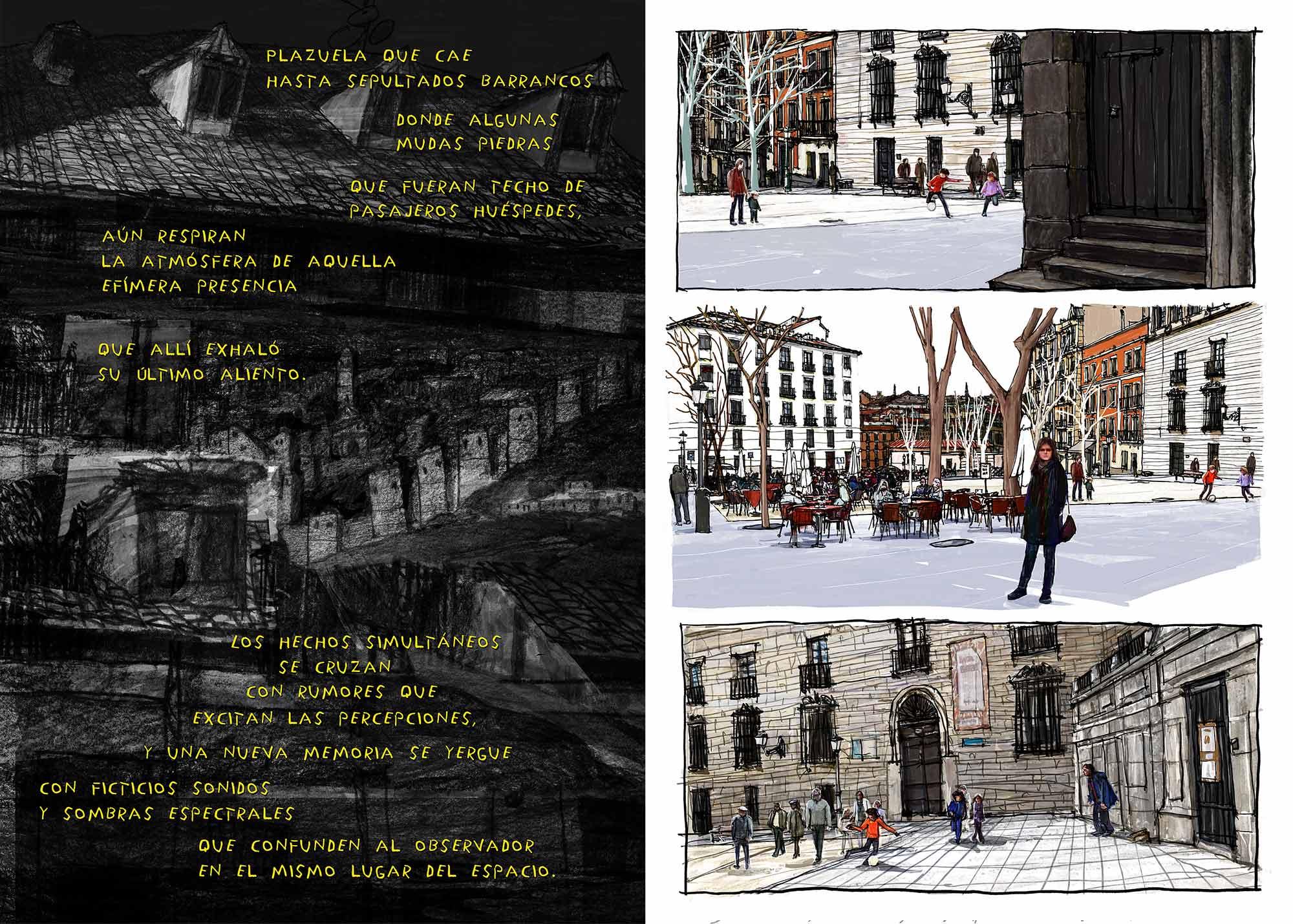 Mario Jodra Artist's Book Augusta Plaza de Paja pages illustration