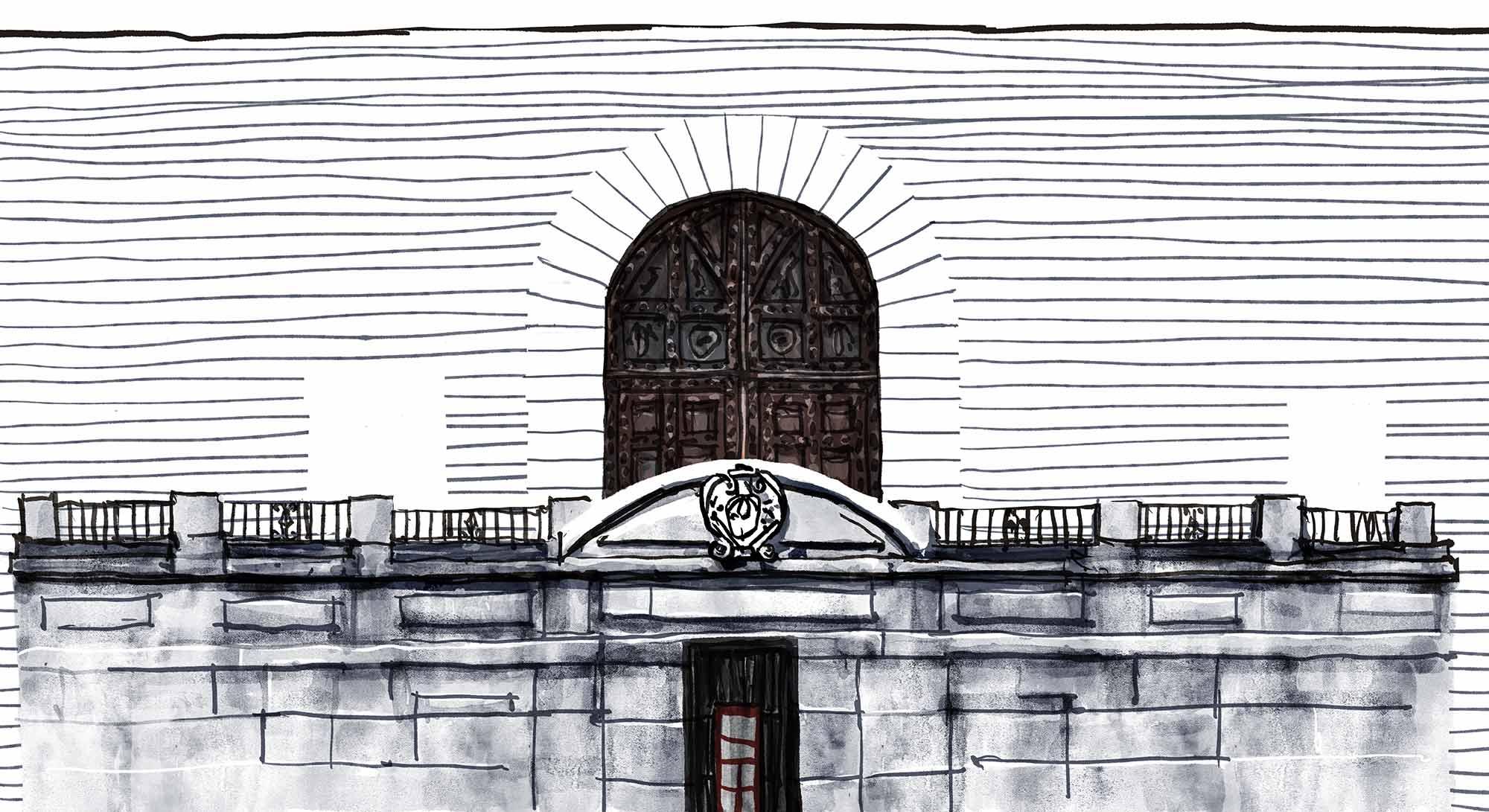 Mario Jodra Artist's Book Augusta Plaza de Paja comic panel illustration