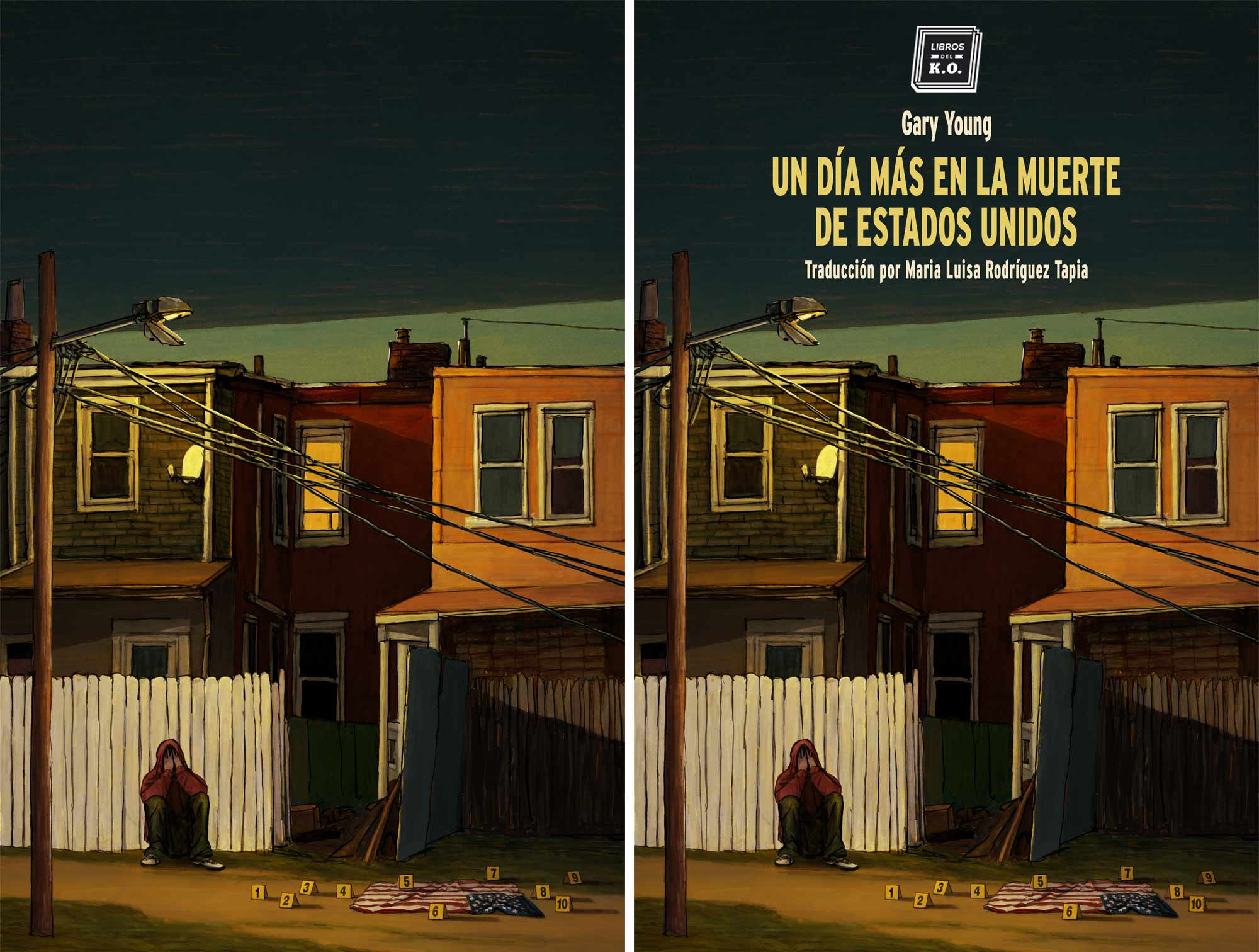 Mario Jodra Book Cover Art - Another day in the death of America