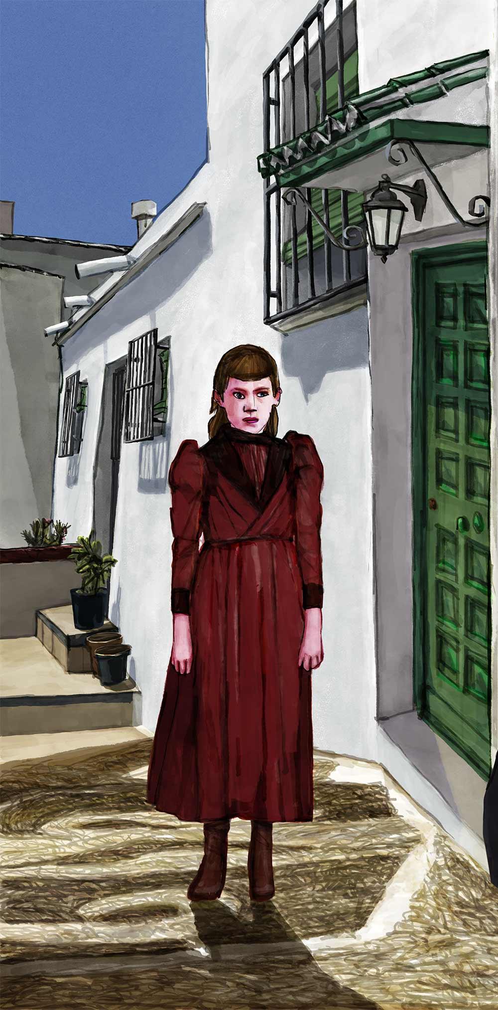 Mario Jodra illustration - Frigiliana La Axarquía (Vertical)