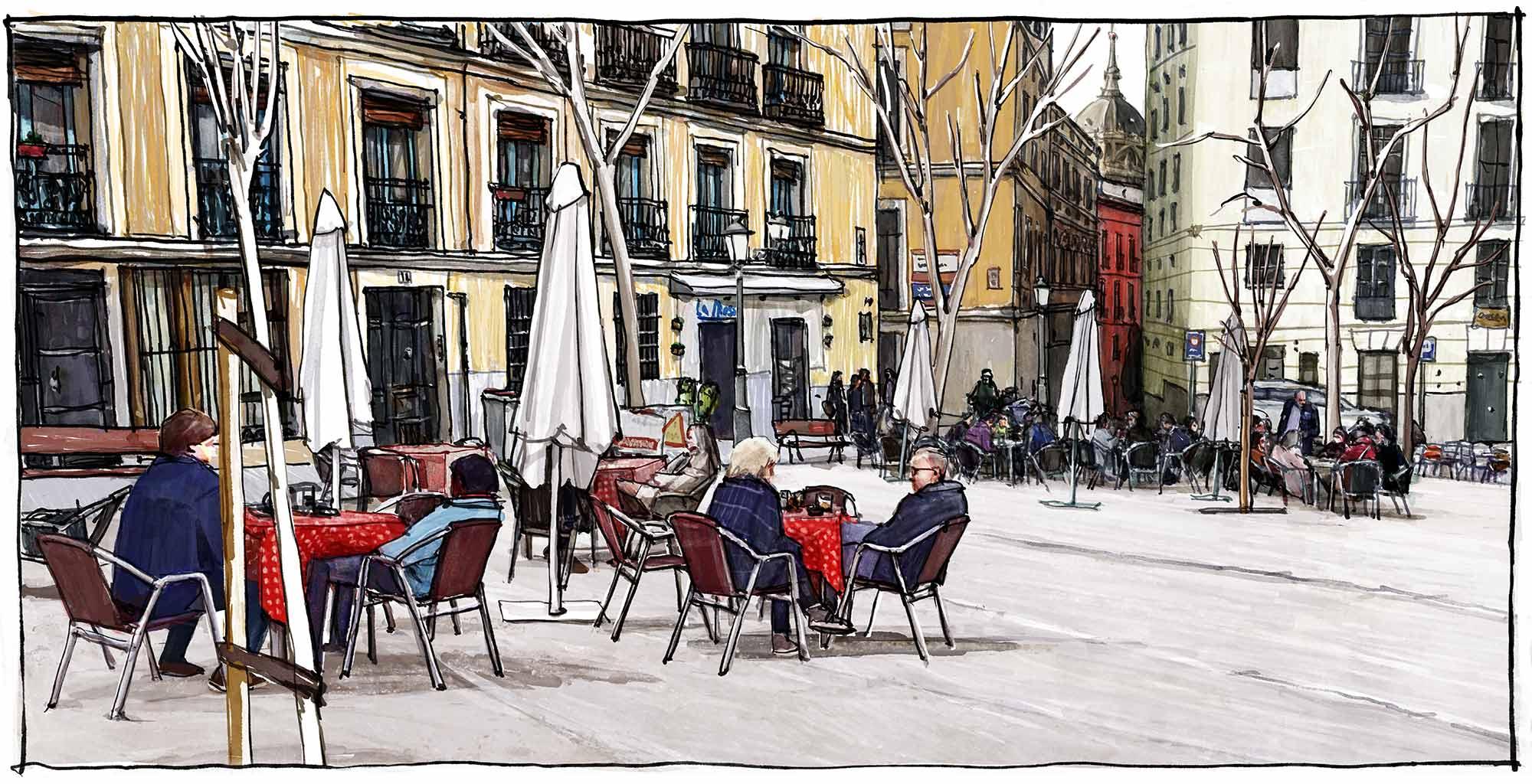 Mario Jodra Augusta Plaza de la Paja illustration