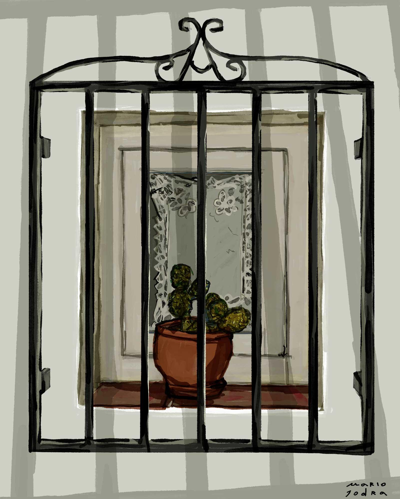 Mario Jodra illustration - A window
