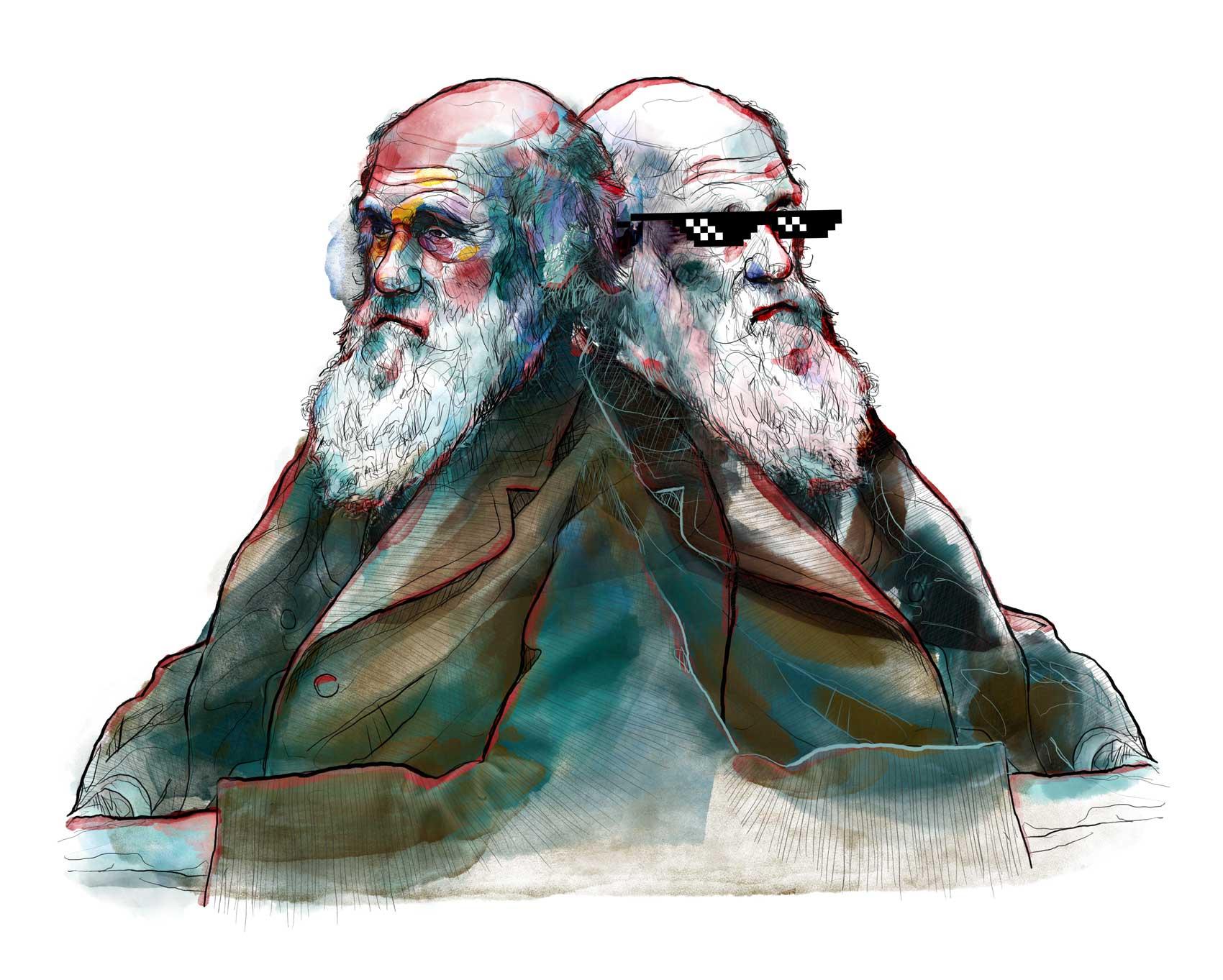 Mario Jodra illustration Art - Charles Darwin