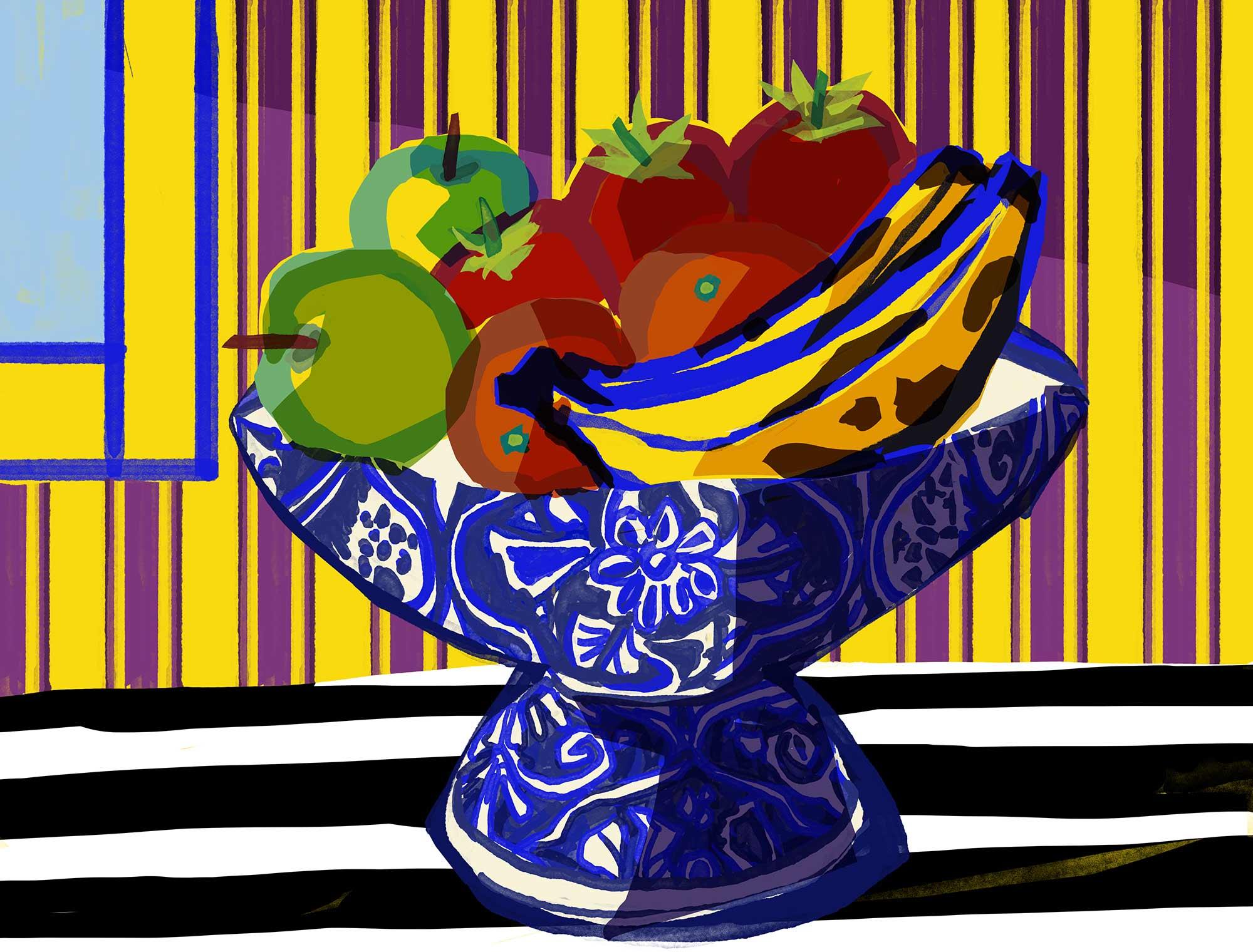 Mario Jodra Art - Fruit Bowl. Still Life