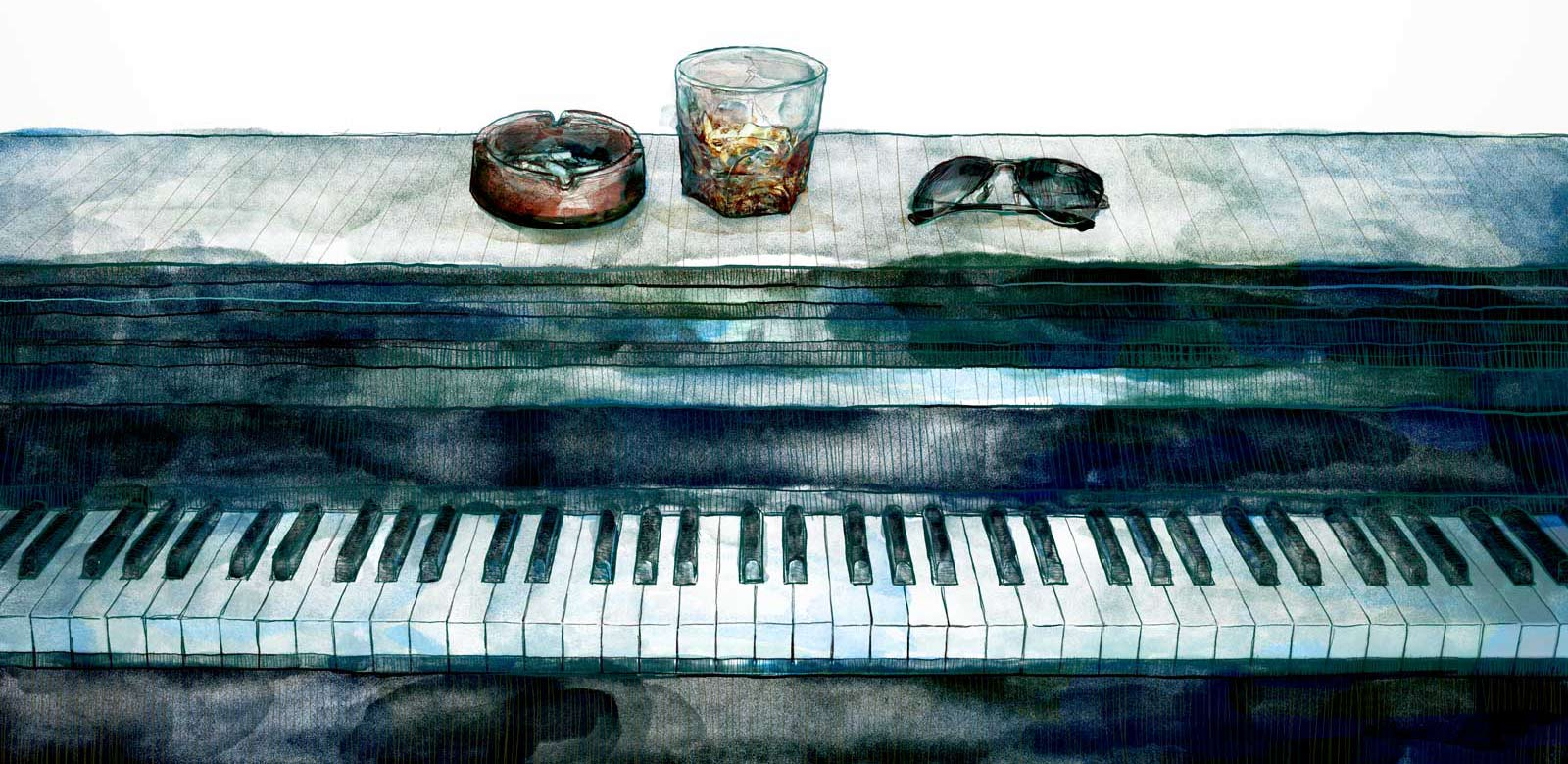 Mario Jodra illustration - Piano