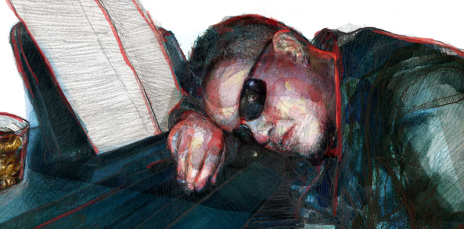 Mario Jodra illustration Art - The pianist (detail)