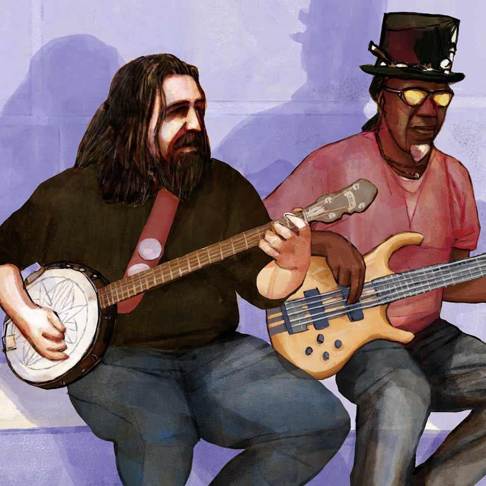 Mario Jodra illustration Art - Musicians
