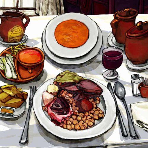 Mario Jodra illustration Art - Cocido madrileño