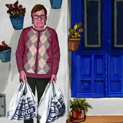 Mario Jodra illustration Art - Madre