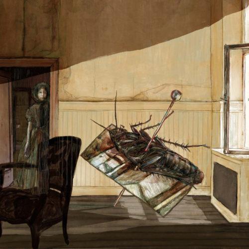 Mario Jodra illustration Art - La metamorfosis Kafka