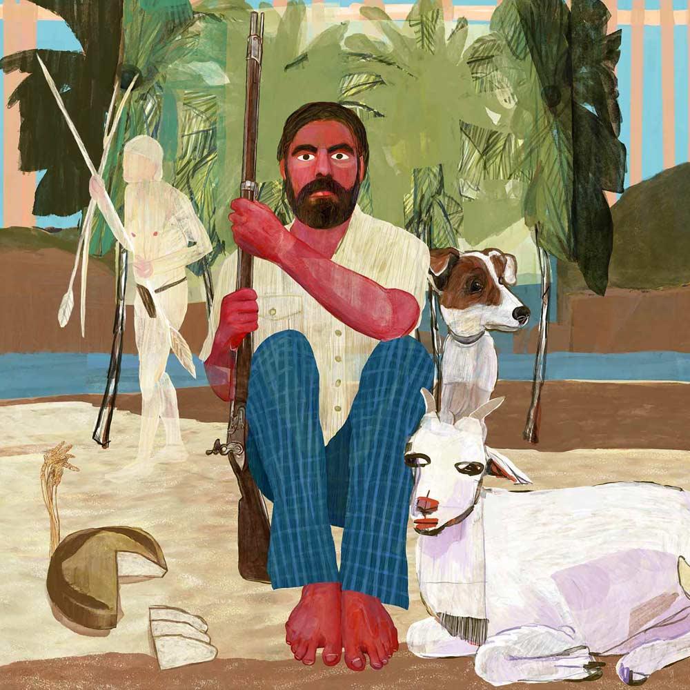 Mario Jodra illustration Art - Robinson Crusoe
