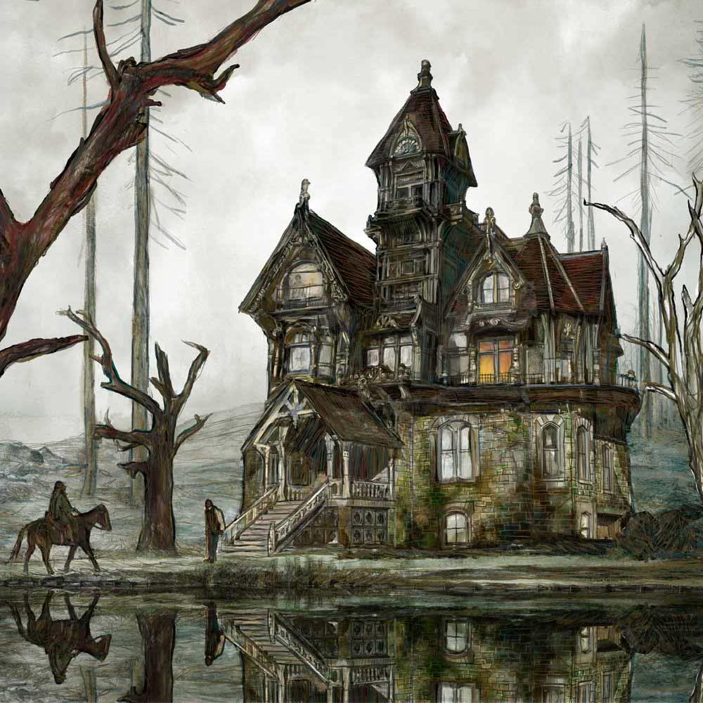 Mario Jodra illustration Art - La caída de la Casa Usher, Edgar Allan Poe