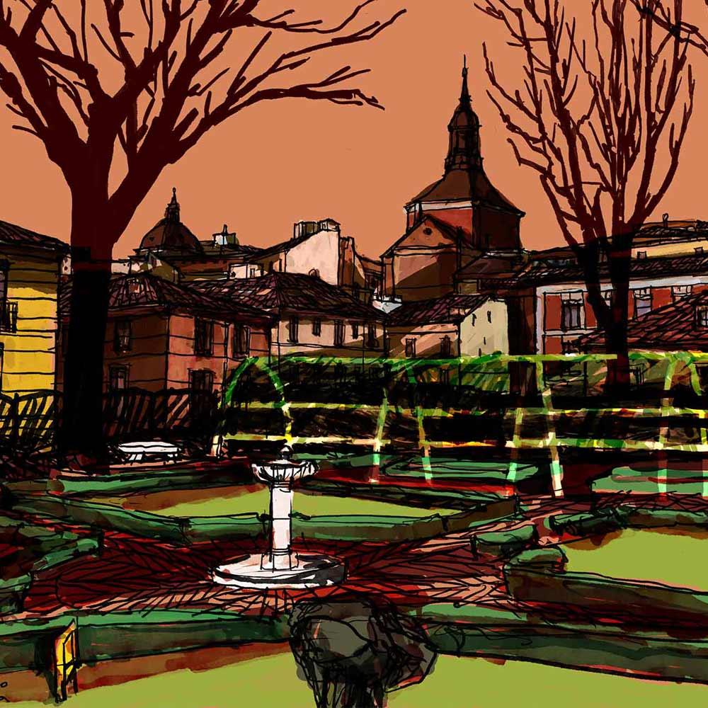 Mario Jodra illustration Art - Urban landscape