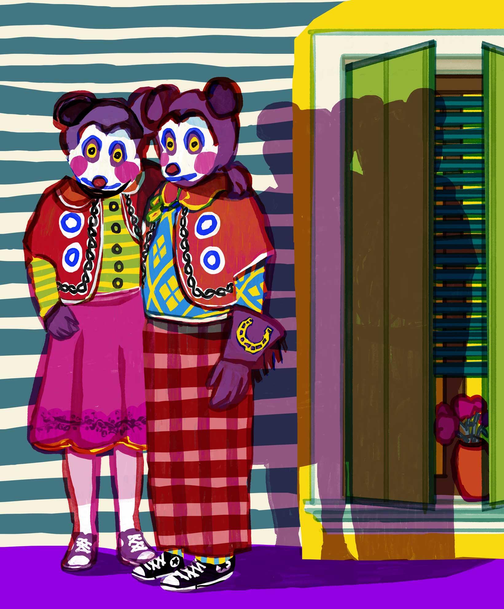 Mario Jodra Art - Mice Kids and an external window