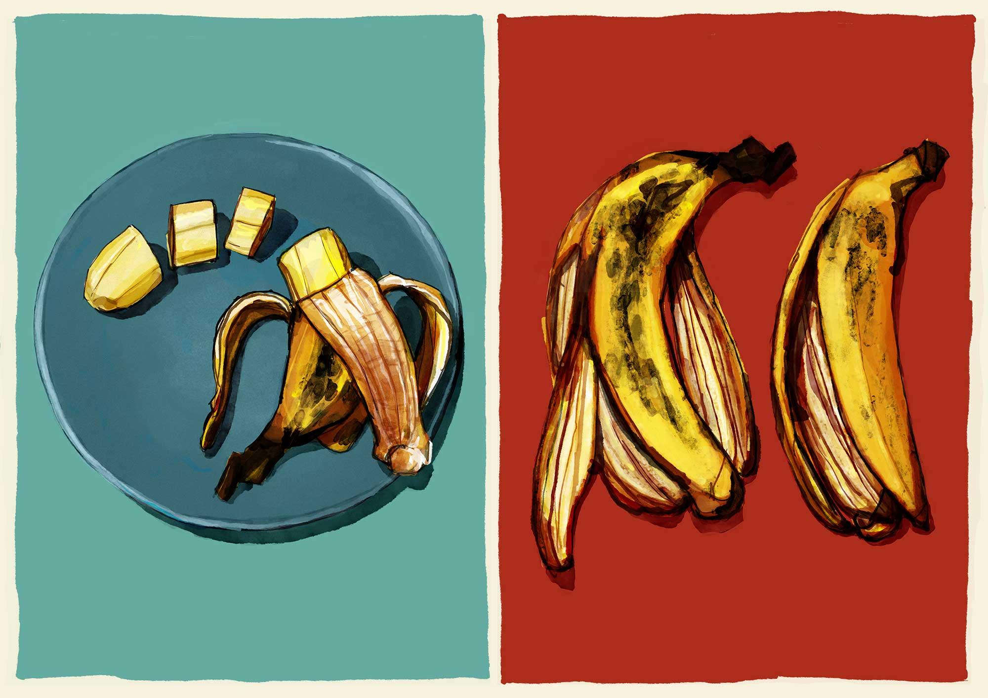 Mario Jodra illustration - Plátano herido