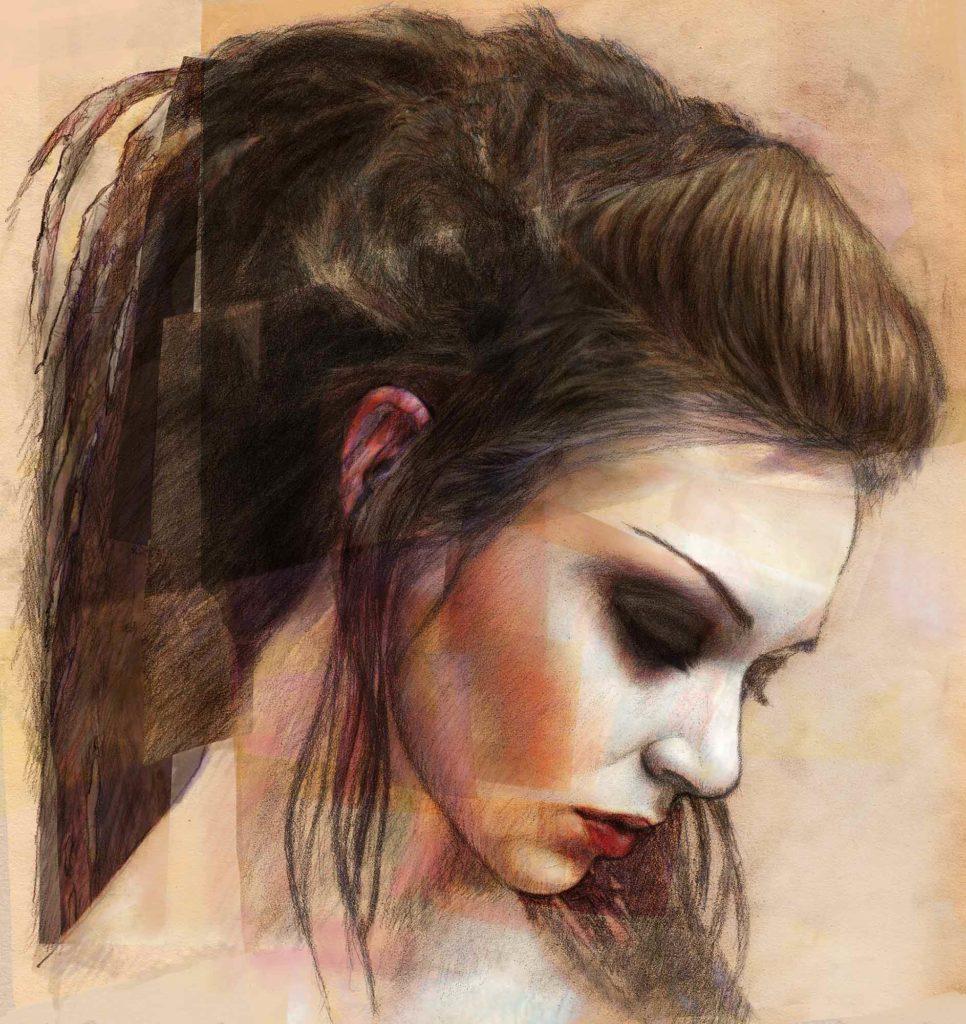 Mario Jodra illustration - Rasta girl head