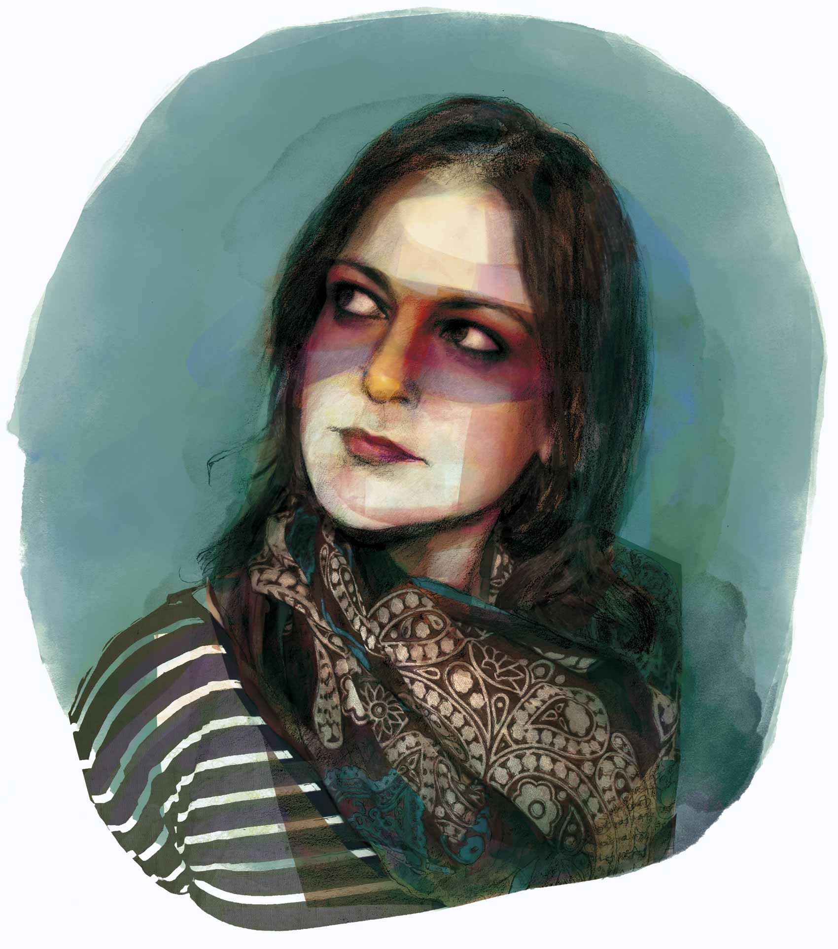 Mario Jodra illustration - Portrait of Andrea