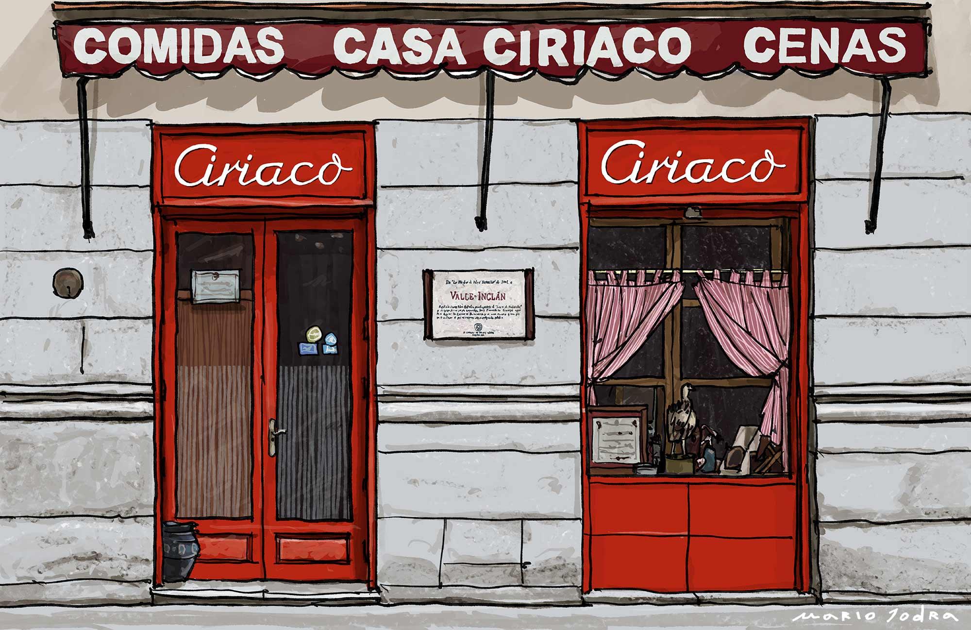 Mario Jodra illustration Art - Casa Ciriaco. Madrid tavern. Since 1887