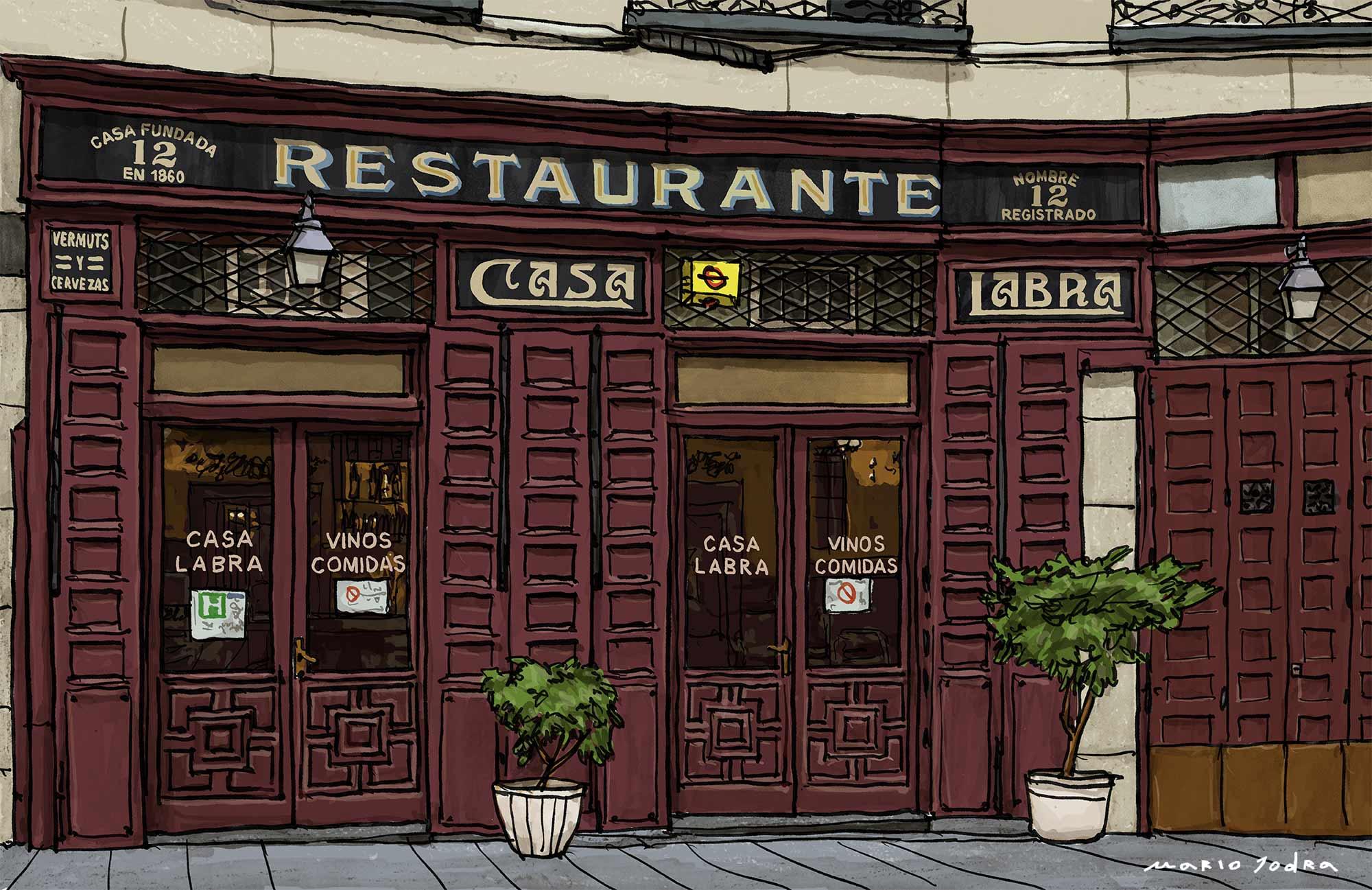 Mario Jodra illustration Art - Casa Labra. Madrid tavern. Since 1860