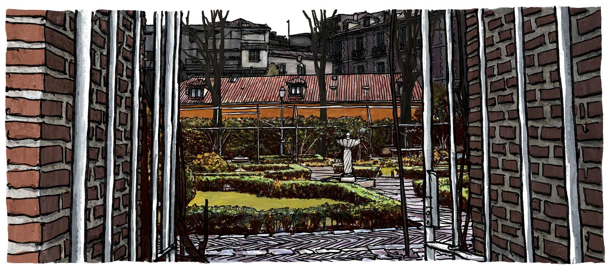 "Mario Jodra Artist's Book Cover design ""Augusta Plaza de Paja"" pages illustration"