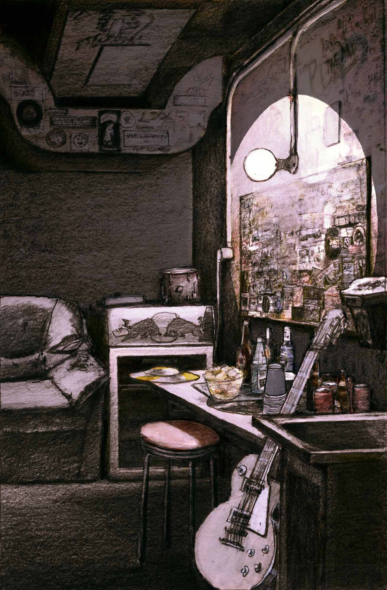 Mario Jodra Book Cover Art - Toma de tierra. Libros del K.O (publisher) 2021